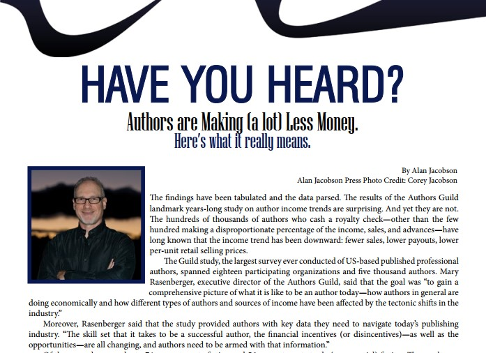 Have you heard? Authors are making (a lot) less money. Here's what it really means.